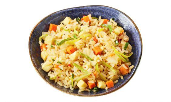 Zoutarm Vegetarische nasi
