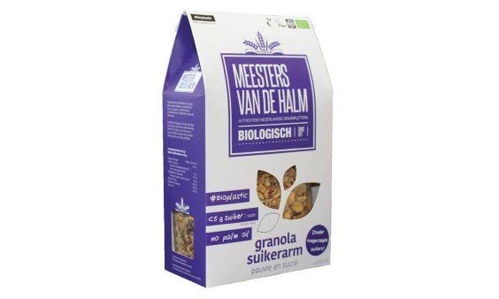 Biologische granola suikerarm
