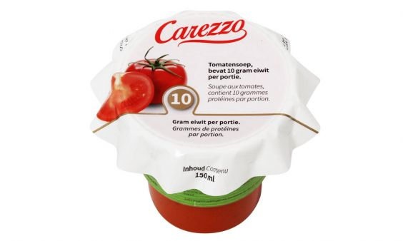 Eiwitverrijkt Carezzo Tomatensoep