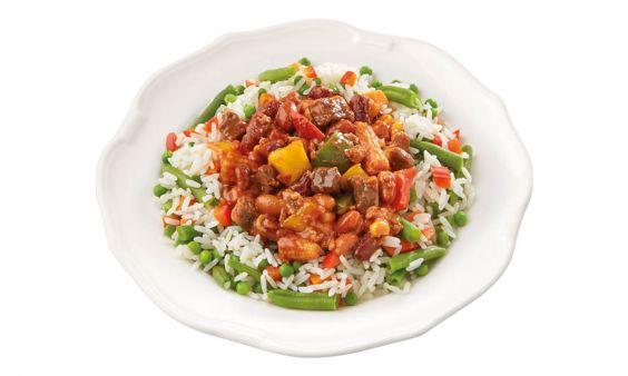 Chili con Carne: Rijst-groenteschotel