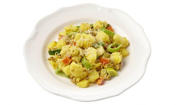 Zoutarm Gehaktschotel met aardappel, bloemkool, prei en kerrie