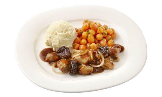 Gemalen  Kip op Brabantse wijze, Parijse worteltjes en aardappelpuree