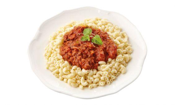 Zoutarm Macaroni bolognese