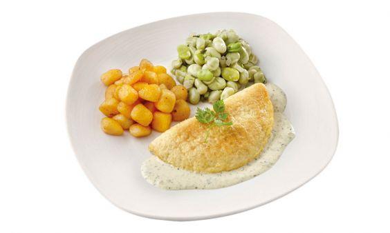 Omelet met Tuinbonen & krieltjes (gluten- & lactosevrij)