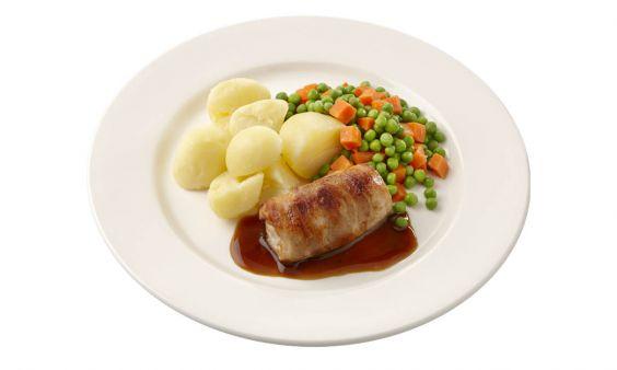Slavink met Jus & Gekookte Aardappelen (zoutarm)