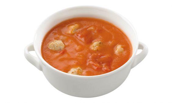 Tomatensoep met Balletjes (zoutarm)