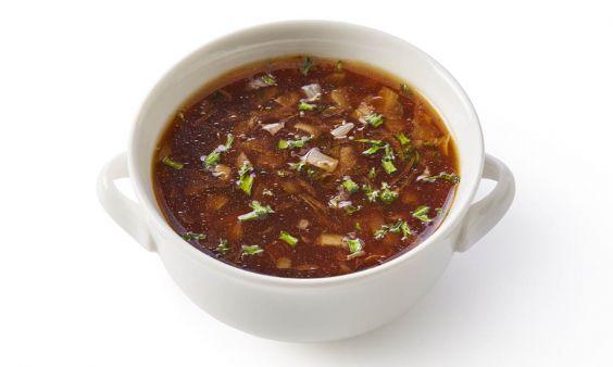 Vegetarische Uiensoep (zoutarm)