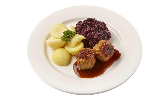 Gehaktballen met Rodekool & aardappelen (zoutarm)