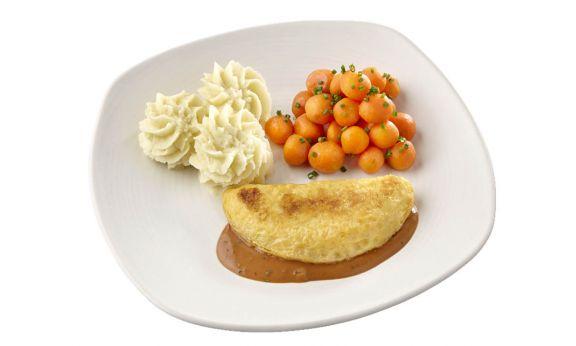 Omelet Champignon met Worteltjes (zoutarm)