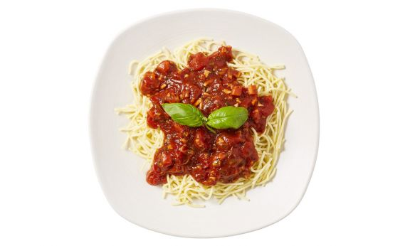 Zoutarm Spaghetti bolognese vegetarisch