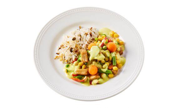 Carezzo Vegetarische Thaise Curryschotel