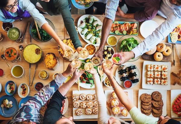 Samen eten zorgt voor gezelligheid