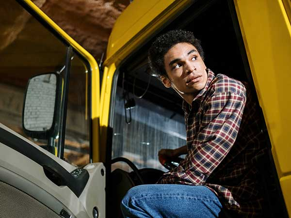 vrachtwagenchauffeur, klant van Maaltijdservice.nl